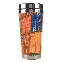 Blue White Orange And Brown Container Van Stainless Steel Travel Tumblers