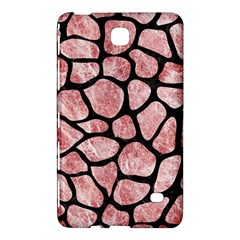 Skin1 Black Marble & Red & White Marble Samsung Galaxy Tab 4 (8 ) Hardshell Case