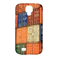 Blue White Orange And Brown Container Van Samsung Galaxy S4 Classic Hardshell Case (pc+silicone)