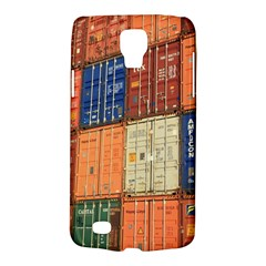 Blue White Orange And Brown Container Van Galaxy S4 Active