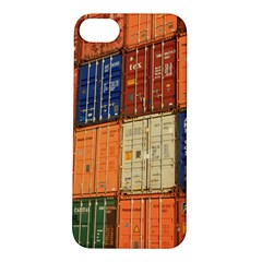 Blue White Orange And Brown Container Van Apple Iphone 5s/ Se Hardshell Case