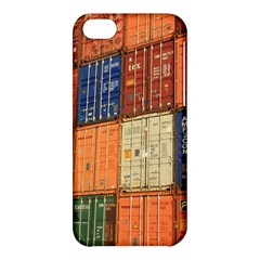 Blue White Orange And Brown Container Van Apple Iphone 5c Hardshell Case