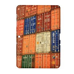 Blue White Orange And Brown Container Van Samsung Galaxy Tab 2 (10 1 ) P5100 Hardshell Case