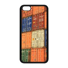 Blue White Orange And Brown Container Van Apple Iphone 5c Seamless Case (black)