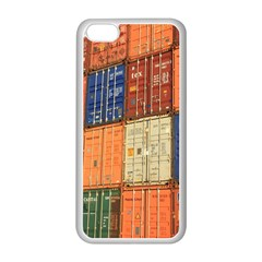 Blue White Orange And Brown Container Van Apple Iphone 5c Seamless Case (white)