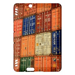 Blue White Orange And Brown Container Van Kindle Fire Hdx Hardshell Case