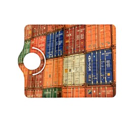 Blue White Orange And Brown Container Van Kindle Fire Hd (2013) Flip 360 Case