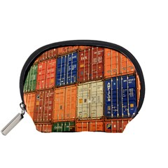 Blue White Orange And Brown Container Van Accessory Pouches (small)