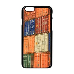 Blue White Orange And Brown Container Van Apple Iphone 6/6s Black Enamel Case