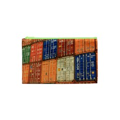 Blue White Orange And Brown Container Van Cosmetic Bag (xs)