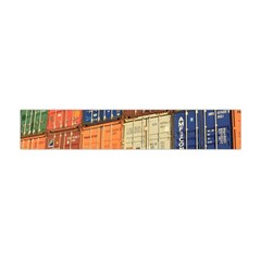 Blue White Orange And Brown Container Van Flano Scarf (Mini)