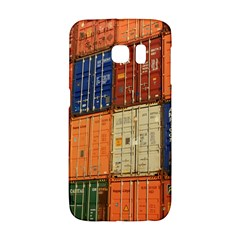 Blue White Orange And Brown Container Van Galaxy S6 Edge