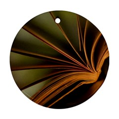 Book Screen Climate Mood Range Ornament (round)
