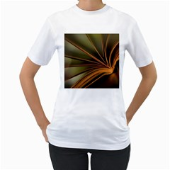 Book Screen Climate Mood Range Women s T Shirt (white) (two Sided)