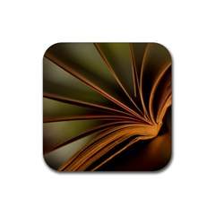 Book Screen Climate Mood Range Rubber Square Coaster (4 Pack)