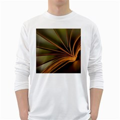 Book Screen Climate Mood Range White Long Sleeve T Shirts