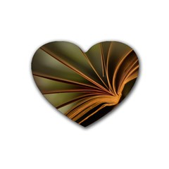 Book Screen Climate Mood Range Heart Coaster (4 Pack)