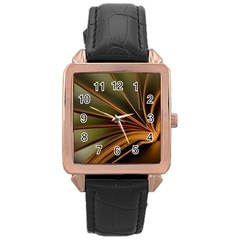 Book Screen Climate Mood Range Rose Gold Leather Watch