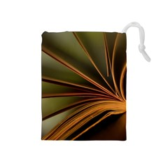 Book Screen Climate Mood Range Drawstring Pouches (medium)
