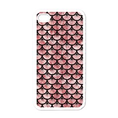 Scales3 Black Marble & Red & White Marble (r) Apple Iphone 4 Case (white)