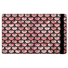 Scales3 Black Marble & Red & White Marble (r) Apple Ipad 3/4 Flip Case