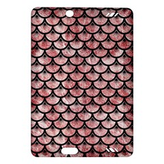 Scales3 Black Marble & Red & White Marble (r) Amazon Kindle Fire Hd (2013) Hardshell Case