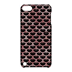 Scales3 Black Marble & Red & White Marble Apple Ipod Touch 5 Hardshell Case With Stand