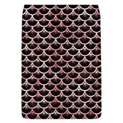 Scales3 Black Marble & Red & White Marble Removable Flap Cover (l)