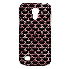 Scales3 Black Marble & Red & White Marble Samsung Galaxy S4 Mini (gt I9190) Hardshell Case