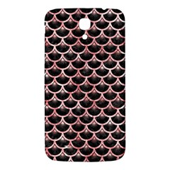 Scales3 Black Marble & Red & White Marble Samsung Galaxy Mega I9200 Hardshell Back Case