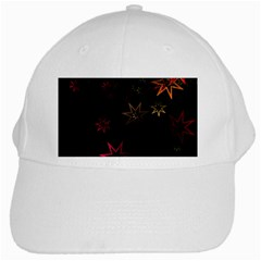 Christmas Background Motif Star White Cap
