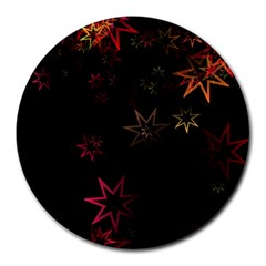 Christmas Background Motif Star Round Mousepads