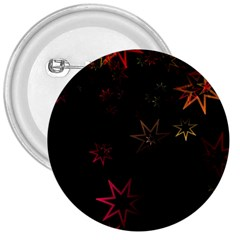 Christmas Background Motif Star 3  Buttons