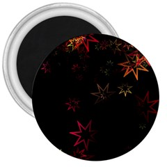 Christmas Background Motif Star 3  Magnets