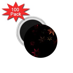 Christmas Background Motif Star 1 75  Magnets (100 Pack)