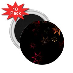 Christmas Background Motif Star 2 25  Magnets (10 Pack)