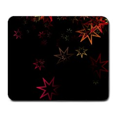 Christmas Background Motif Star Large Mousepads