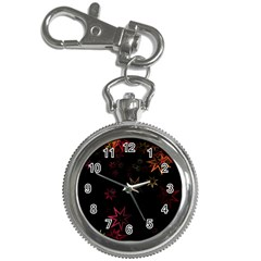 Christmas Background Motif Star Key Chain Watches