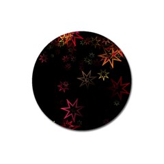 Christmas Background Motif Star Magnet 3  (round)