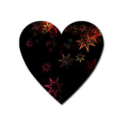 Christmas Background Motif Star Heart Magnet