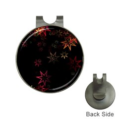 Christmas Background Motif Star Hat Clips With Golf Markers