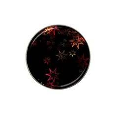 Christmas Background Motif Star Hat Clip Ball Marker (10 Pack)