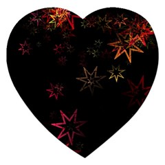 Christmas Background Motif Star Jigsaw Puzzle (heart)