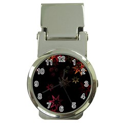 Christmas Background Motif Star Money Clip Watches