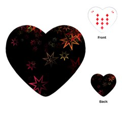 Christmas Background Motif Star Playing Cards (heart)