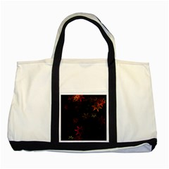 Christmas Background Motif Star Two Tone Tote Bag