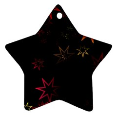 Christmas Background Motif Star Star Ornament (two Sides)