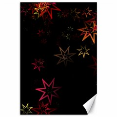 Christmas Background Motif Star Canvas 12  X 18
