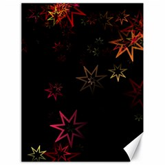 Christmas Background Motif Star Canvas 18  X 24