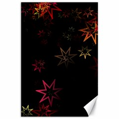 Christmas Background Motif Star Canvas 24  X 36